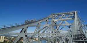 High in the sky on the Story Bridge Climb
