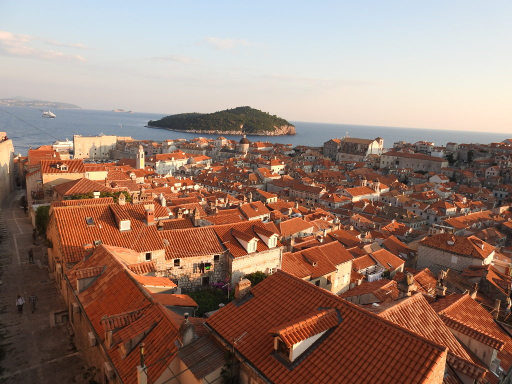 The Burnt Orange Rooftops of Dubrovnik, Croatia