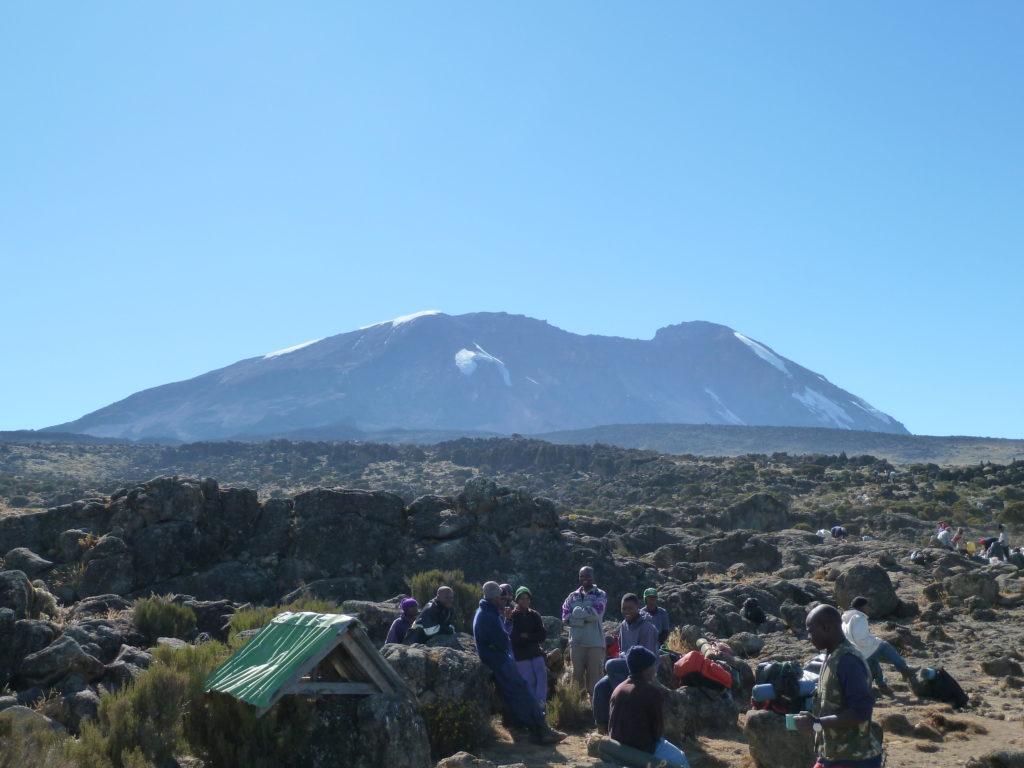 Climbing Mt Kilimanjaro climb - first campsite!