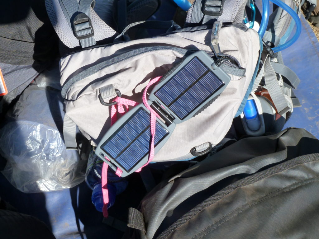 Charging the phone battery for the big day climbing Mt Kilimanjaro