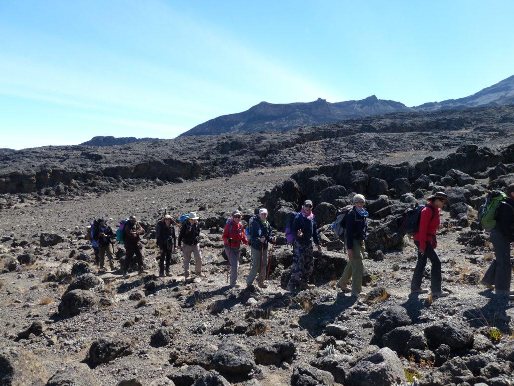 Start of the steep climb out of Karanga Valley