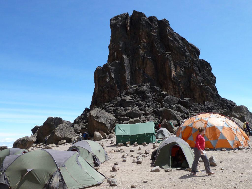 Climbing Mt Kilimanjaro - Lava Tower Campsite