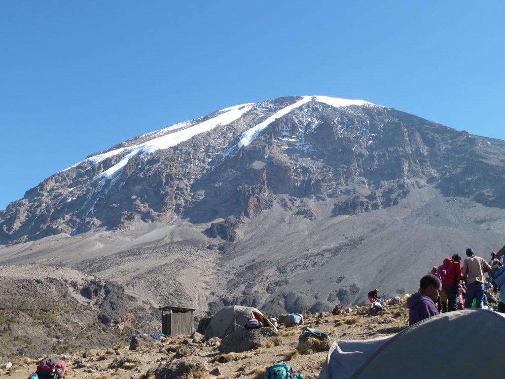 Barafu Campsite the night before climbing Mt Kilimanjaro