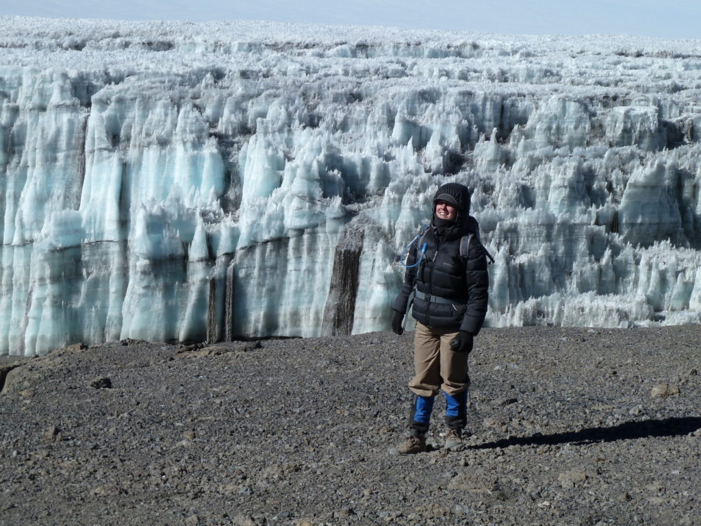 Glaciers and Ice Cliffs at the summit while Climbing Mt Kilimanjaro