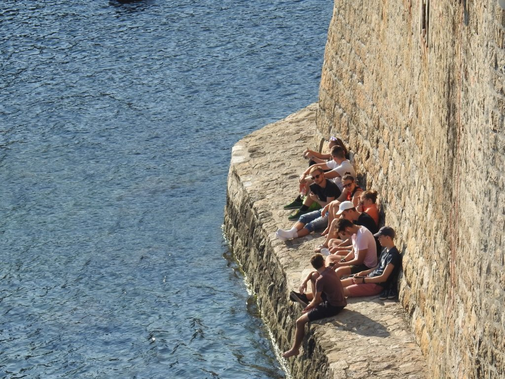 Dubrovnik Harbour View from at City Wall Water Level!
