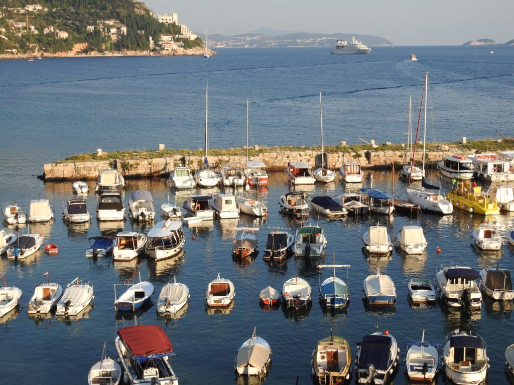 The Bustling Boat Harbour of Dubrovnik