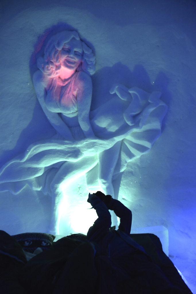 Snow hotel Sculpture, Kirkenes - Marilyn Monroe