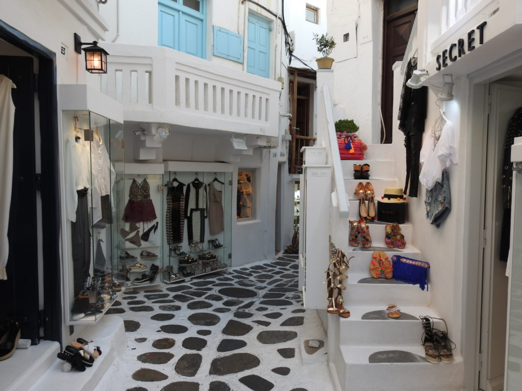 Mykonos is a mecca for shoppers - especially fashion and jewellery. www.gypsyat60.com