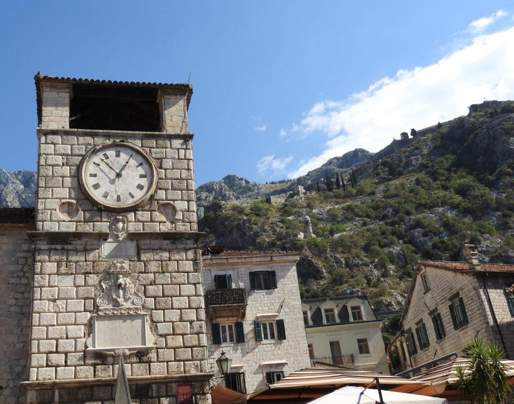 Kotor Clock Tower - rebuilt twice because of earthquakes. www.gypsyat60.com