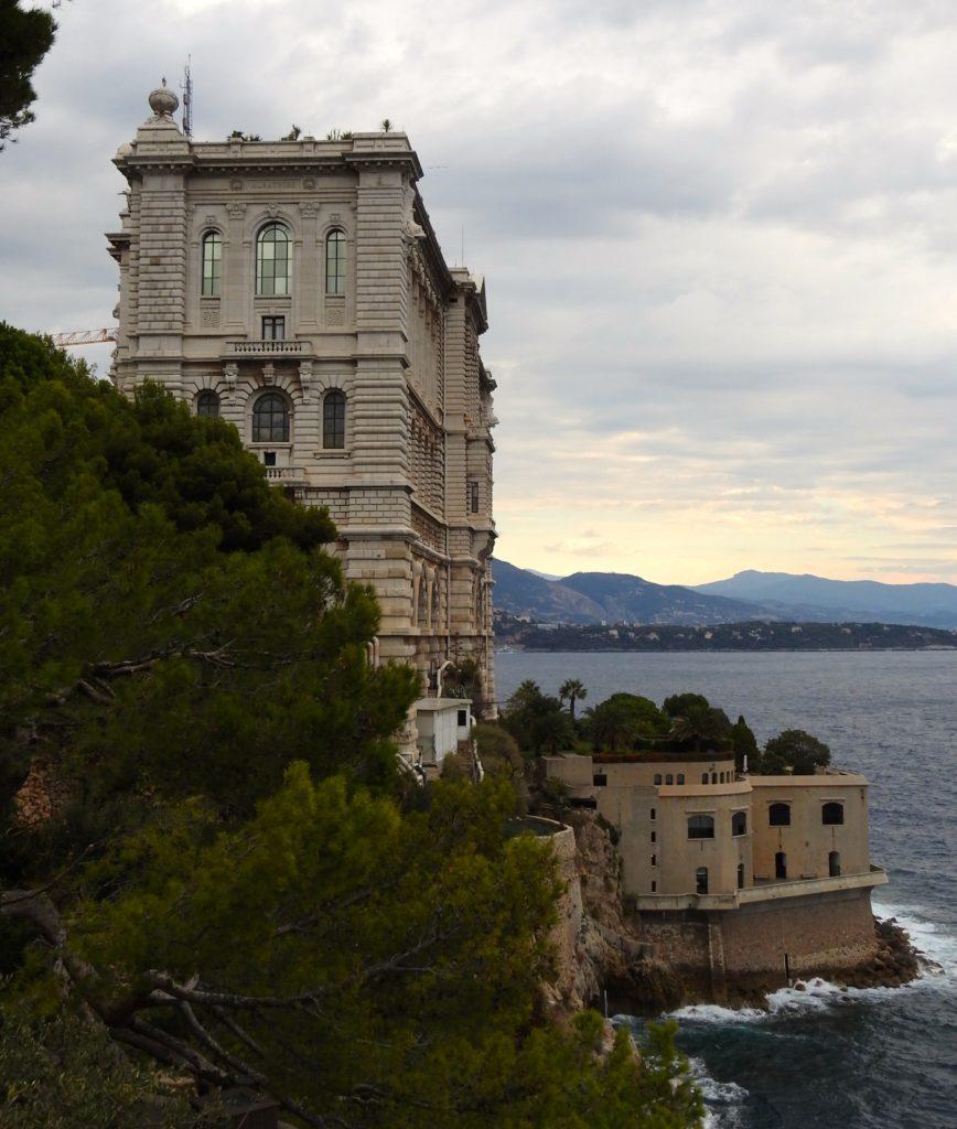 Museum of Oceanography, Monte Carlo, fits snugly into the cliff. www.gypsyat60.com
