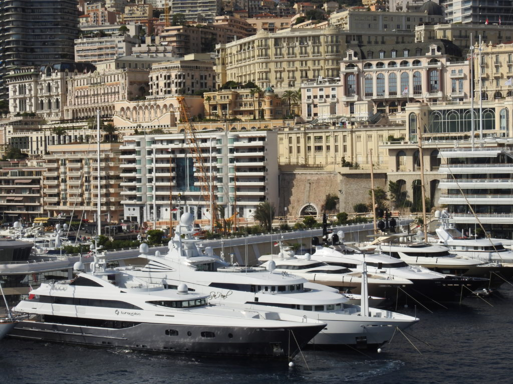 Monte Carlo Harbour with a Jaw dropping array of pleasure craft and yachts. www.gypsyat60.com