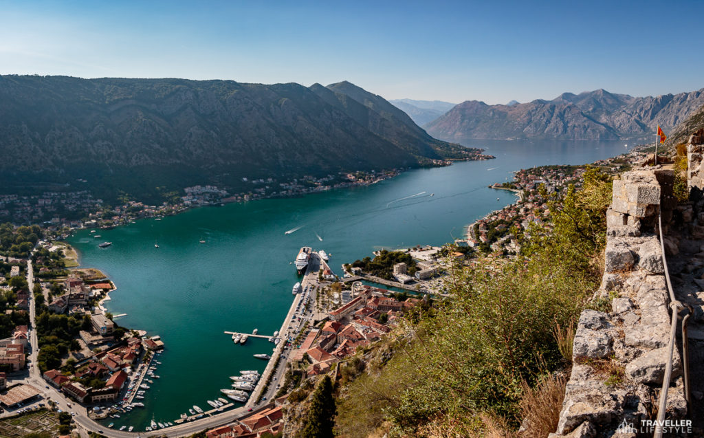 The Fort/Castle of St John from the top of the Kotor climb. www.gypsyat60.com