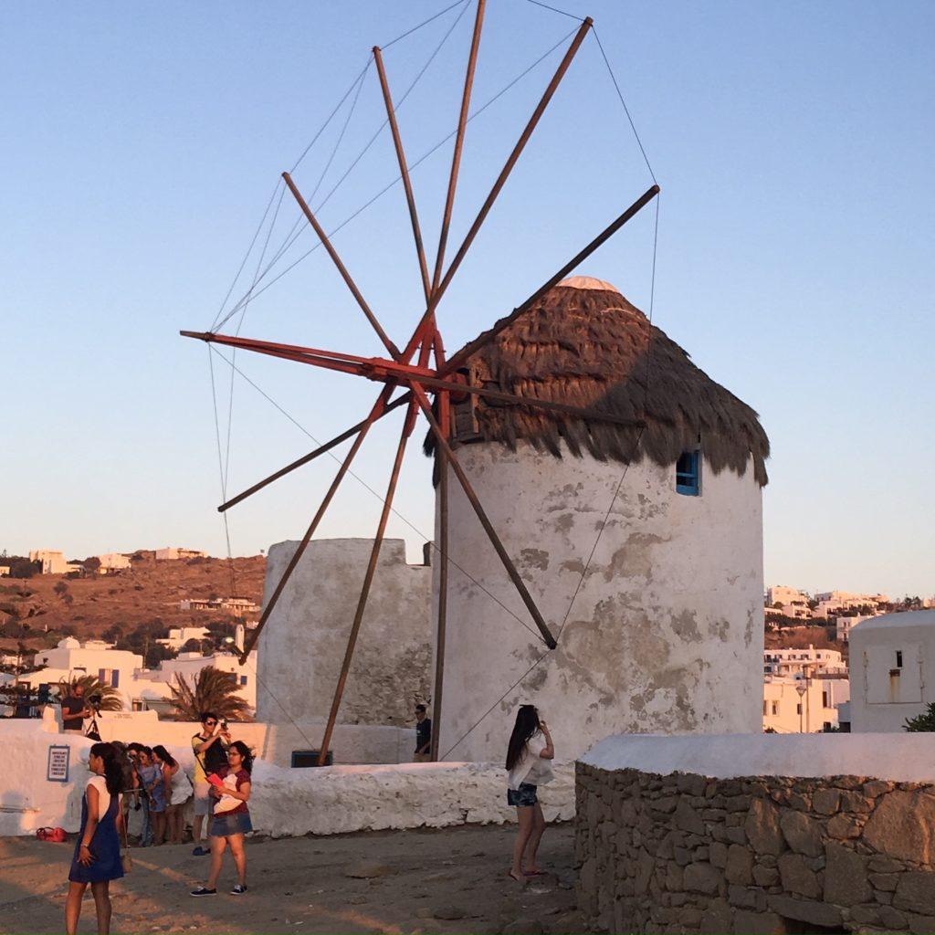 A 16th century Mykonos windmill that used to grind wheat and barley. Cycladic architecture. www.gypsyat60.com