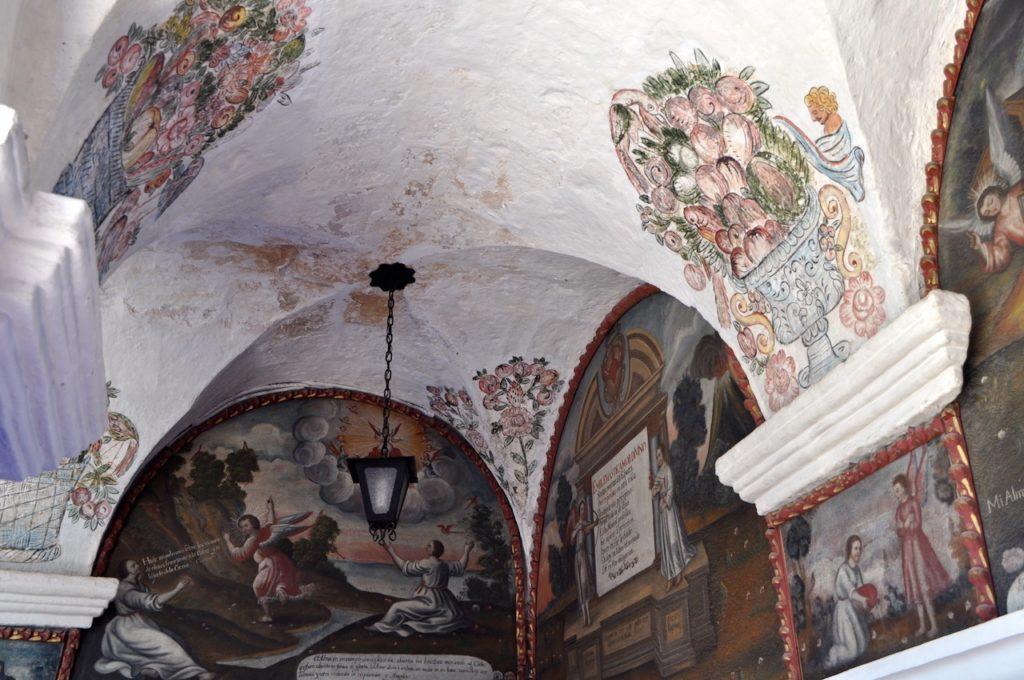 Great Cloister, Saint Catalina Monastery, Araquipa, Peru, South America - featuring historic religious artwork. www.gypsyat60.com