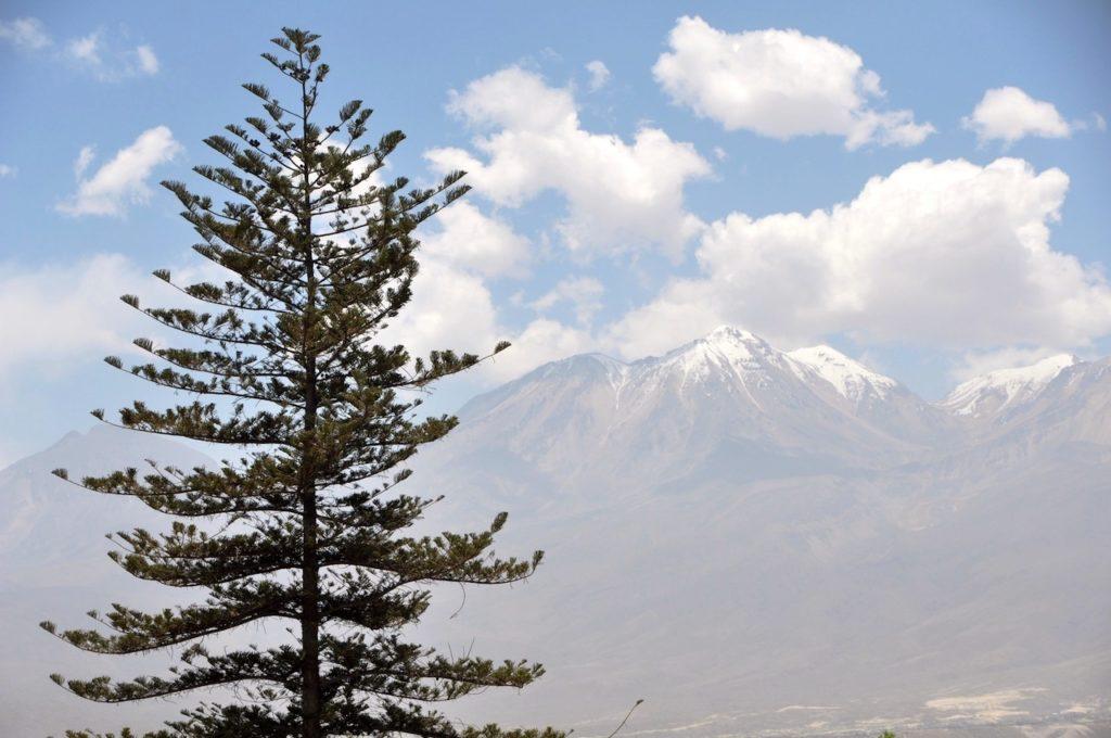 Mountain views from top of Church at Santa Catalina Monastery, Araquipa, Peru, South America. www.gypsyat60.com