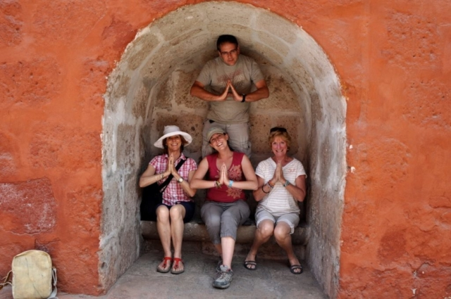 Practicing to be accepted into the Saint Catalina Monastery, Araquipa, Peru, South America. www.gypsyat60.com
