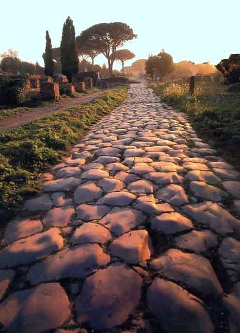 Appian Way and the 2,300 year old stones to cycle over. www.gypsyat60.com