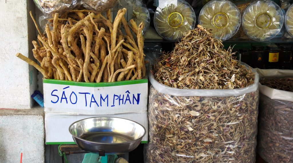 Shaved Cinnamon ready for Sale, Chinatown, Ho Chi Minh, Vietnam. www.gypsyat60.com