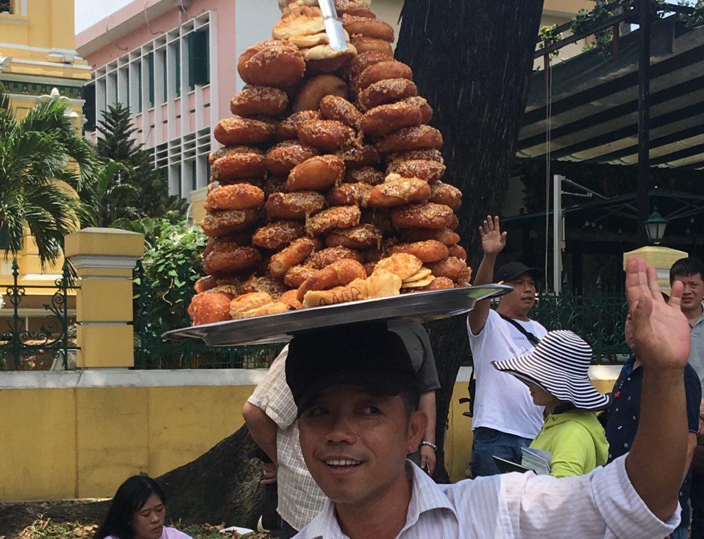 Dancing Donut Man, Ho Chi Minh City, Vietnam. gypsyat60.com