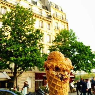 Berthillon Salty Caramel ice-cream, bought from the most famous ice cream shop in Paris.