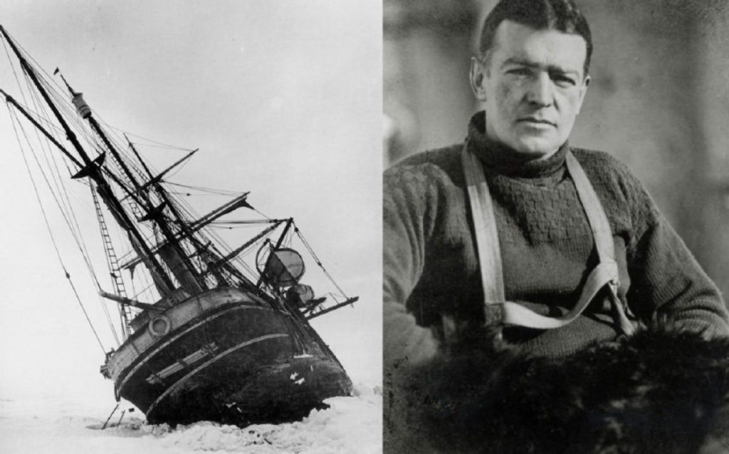 "Ernest Shackleton and ill-fated ""The Endurance"" in 1914 - Antartica. Photo - Toronto Press. www.gypsyat60.com"