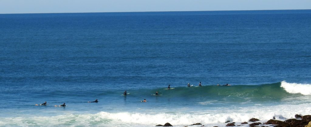 Surfers at Angourie Beach, New South Wales. www.gypsyat60.com