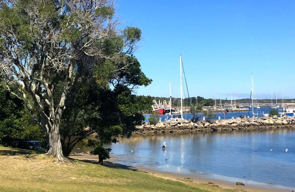 The old Sedgers Reef Hotel at Iluka, New South Wales, great view of the harbour. www.gypsyat60.com