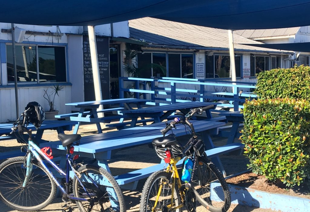 Bikes parked at the old Sedgers Reef Hotel, New South Wales. www.gypsyat60.com