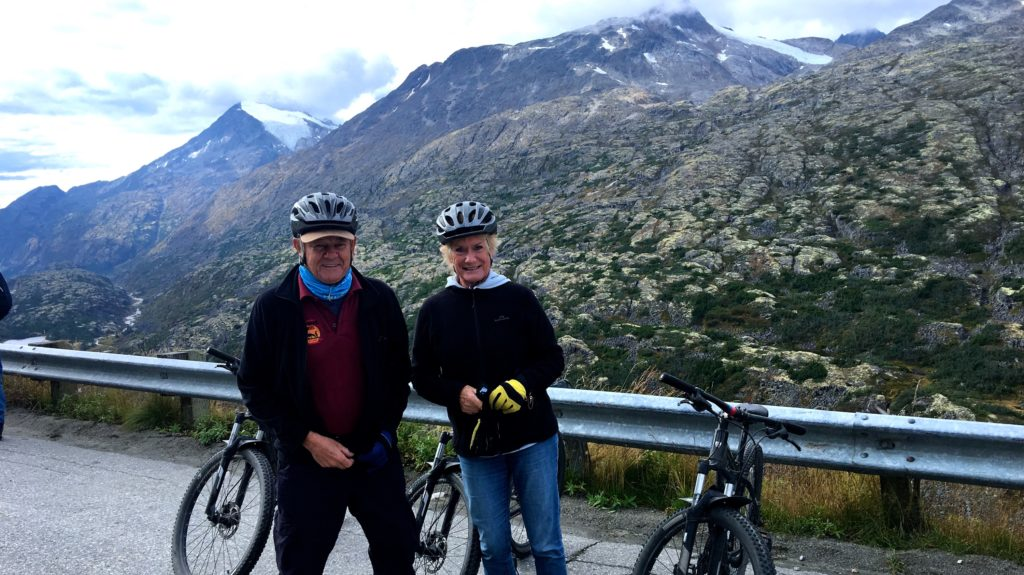 Getting ready to cycle down to Skagway from White Pass at 30 mph (45 kph). www.gypsyat60.com