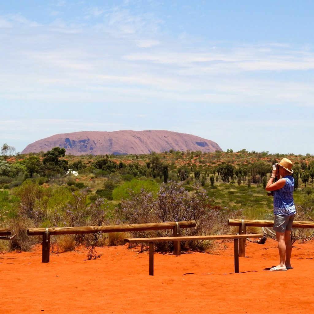 A view from Uluru Lookout - surrounded by red red sand. www.gypsyat60.com